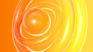 abstract 3d orange circles- HD background animation video