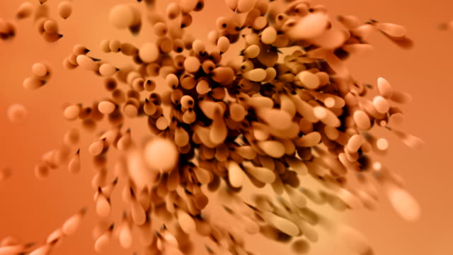 Abstract 3D Particles Background Animation video