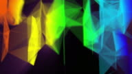 Abstract 3D rendered colorful background. Modern and stylish with a rainbow of 3D colors video