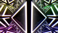 4K Abstract 3D Triangle Shape VJ Animation video