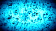 Abstract animated Background with Colorful Music notes. LOOP video