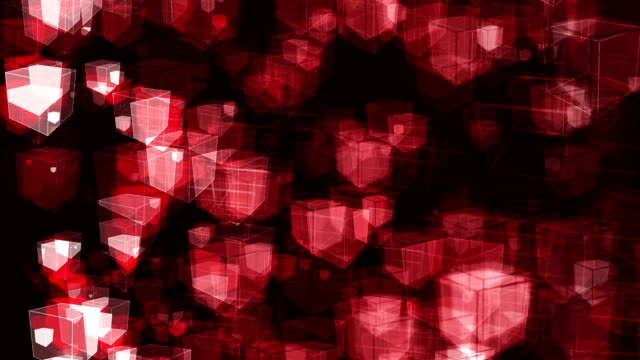 Abstract Animated Cubes video