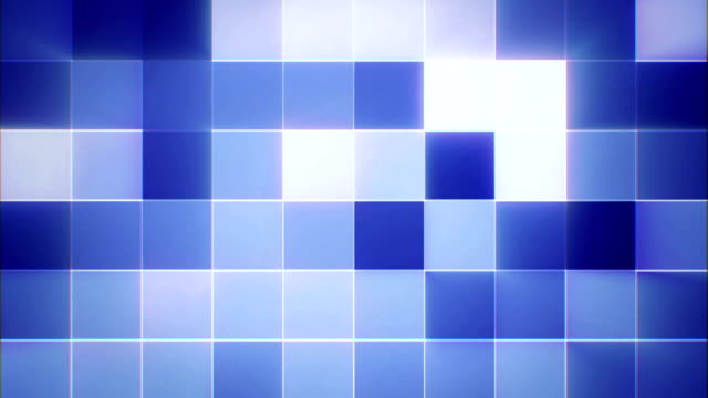 Abstract animated mosaic video