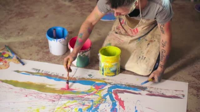 Abstract Art in Progress video