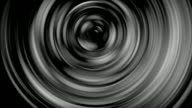 Abstract art Silver rotating spiral in different patterns Backgrounds video