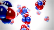Abstract Atom Molecules Background video