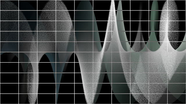 Abstract audio waves video