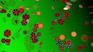 Abstract background in green color video