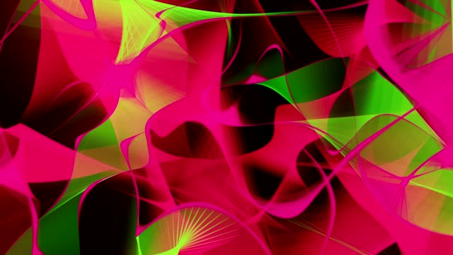 Abstract background in red and green colors on black video
