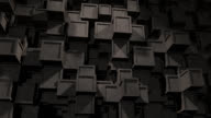 Abstract Background of concrete Cubes video