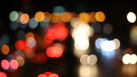 Abstract background of defocused lights video