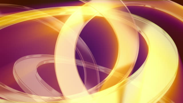 Abstract background of gold glass rings on dark magenta video