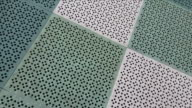 Abstract background of green color rubber floor video