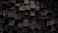 Abstract Background of moving concrete Cubes video
