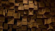 Abstract Background of moving wooden Cubes video