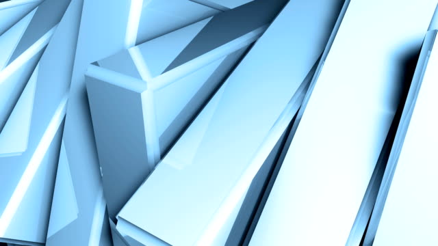Abstract background of rotation steel boxes video