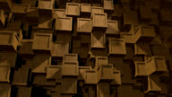 Abstract Background of wooden Cubes video