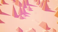 Abstract background - Polygon waves video