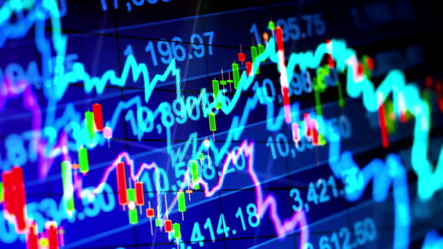 Abstract background stock indices and graphs video