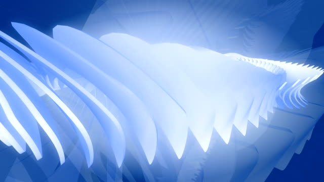 Abstract background turbine. 3D animation. video