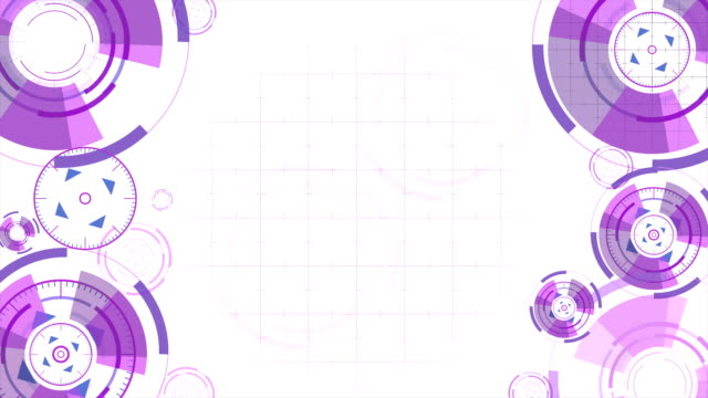 Abstract background with animated circles video