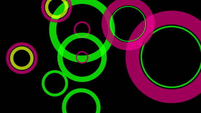Abstract background with circles.seamless looping video