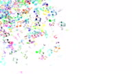 Abstract Background with Colorful Music notes. video