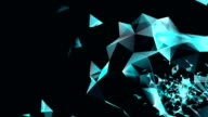abstract background with irregular tessellations pattern, triangular design video