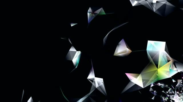 abstract background with irregular tessellations pattern, triangular design video