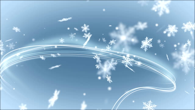 Abstract Background with Light Lines and Snowflakes. video