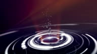 abstract background with rotating purple lens, loop video