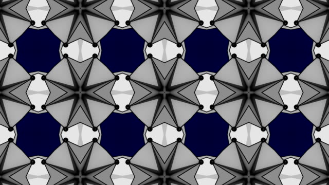 Abstract background with technology kaleidoscope video