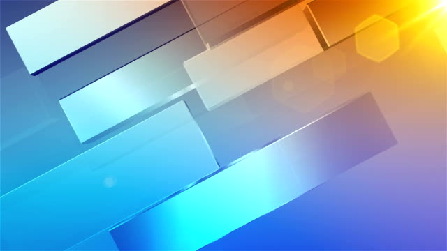 Abstract Background-blue and orange video