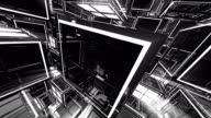 4K Abstract Black and White 3D Shape VJ Animation video
