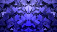 Abstract block shapes in blue hue video
