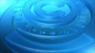Abstract Blue 3D Circles Background video