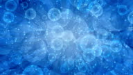 Abstract blue animation background loop video