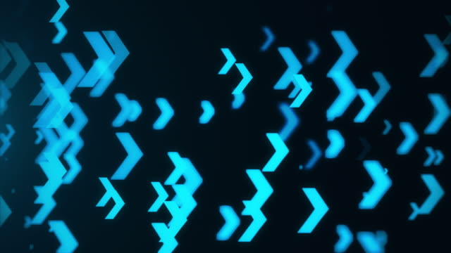 Abstract blue arrows background. Technology video