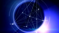 abstract blue background for scientific projects, loop video