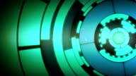 Abstract Blue Circle Spin Motion Background video