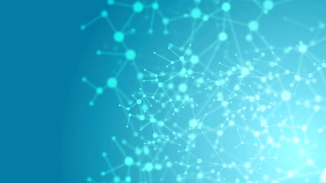 Abstract blue DNA molecular structure animated background video