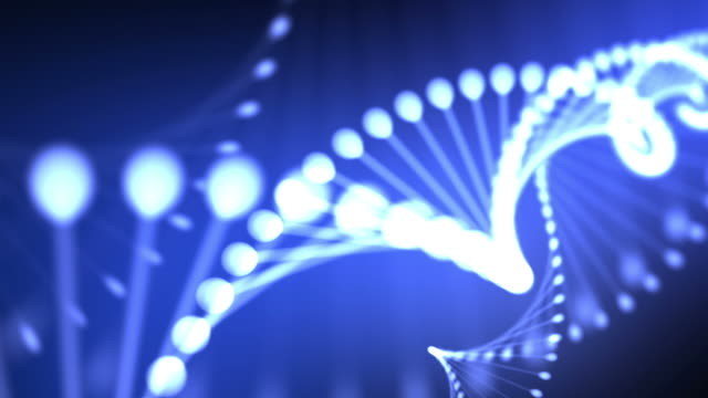 Abstract blue DNA video