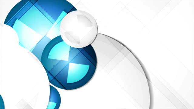 Abstract blue geometric corporate animated background video