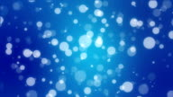 Abstract blue holiday background with bokeh lights video