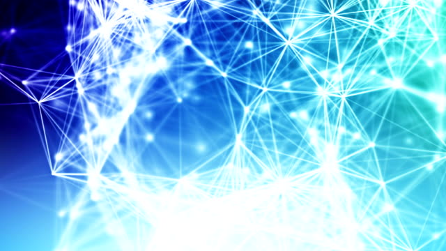 Abstract blue network connections loopable background footage video