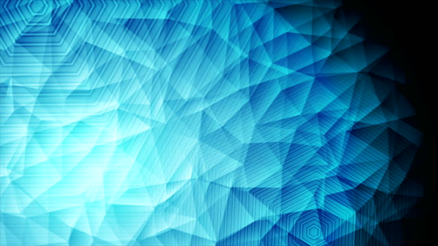 Abstract blue polygonal tech video animation video
