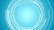 Abstract blue tech circles video animation video