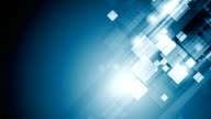 Abstract blue tech geometric video animation video