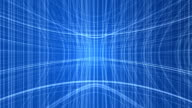 Abstract blue technology background video