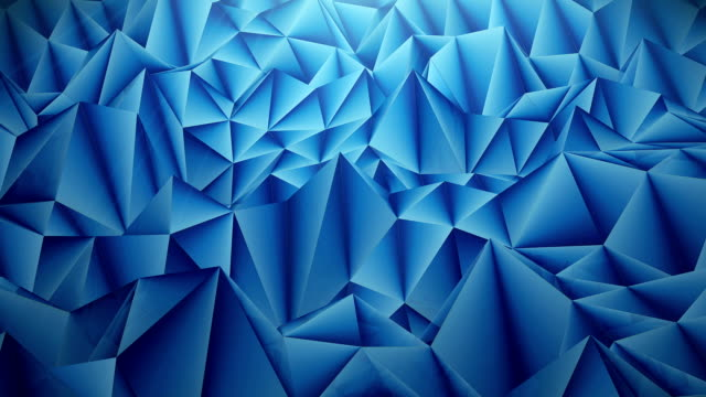 Abstract blue textured background with triangle shapes video